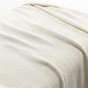 绳绒线 织毛毯  S・140×200cm 象牙色