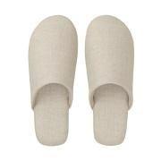 麻斜纹 柔软拖鞋 L・25~26.5cm用 生成色