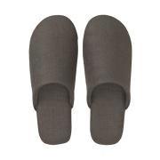 麻斜纹 柔软拖鞋 L・25~26.5cm用 深灰色