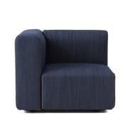 棉牛仔布单元沙发带扶手小用沙发套/蓝色