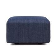 棉牛仔布单元沙发搁脚凳小用沙发套/蓝色