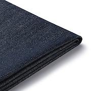 棉牛仔布单元沙发带扶手小用沙发套/海军蓝