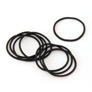 橡胶发圈・细・黑色 8个装