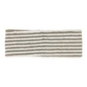 绒毛 束发带/细 灰色条纹 约22×7.5cm