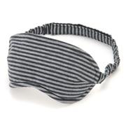 棉天竺 便携式眼罩 混深蓝×混灰 约8.5×21.5cm
