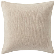 棉雪尼尔 靠垫套  43×43cm用 米色人字形纹