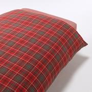 棉法兰绒 被套  Q・210cm×210cm 红色格纹