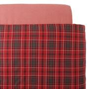棉法兰绒 被套  K・230cm×210cm 红色格纹
