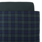 棉法兰绒 被套  K・230cm×210cm 绿色格纹