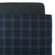 棉法兰绒 被套  L・200cm×230cm 绿色格纹