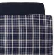 棉法兰绒 被套  L・200cm×230cm 海军蓝格纹