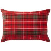 棉法兰绒 枕套  50×70cm用 红色格纹