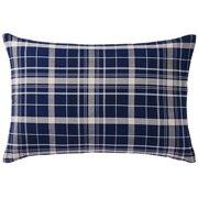棉法兰绒 枕套  50×70cm用 海军蓝格纹