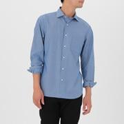 棉平纹条纹 定型半宽领衬衫