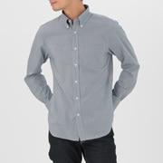 牛津棉格子 定型纽扣领衬衫