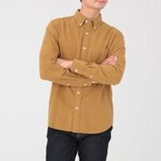 棉法兰绒 纽扣领衬衫