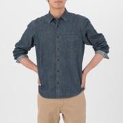 靛蓝染色棉 牛仔衬衫