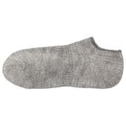 棉混合脚直角 竹节船袜