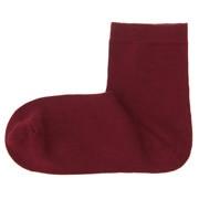 棉混合脚直角 袜口无橡筋短袜