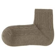 棉混合脚直角 缆绳图案短袜