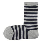棉混合脚直角 宽条纹图案袜