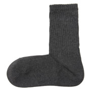 棉混合脚直角 粗松罗纹袜