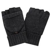 羊毛混纺 可作连指手套的 半指手套