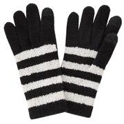 毛圈花式线 图案触摸屏手套