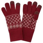 羊毛混纺 费尔岛图案触摸屏手套