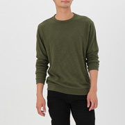 粗细不均棉线 长袖T恤
