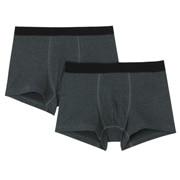 棉混弹力 前封口平角裤 2件装