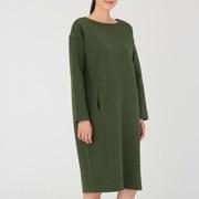 棉混双层编织 连衣裙