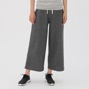 棉混弹力毛圈 宽版裤