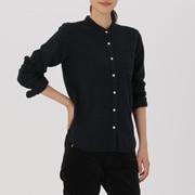 棉法兰绒 立领衬衫