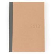 再生上质纸 月周笔记本 2017年12月开始 B6・米色