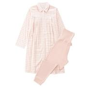 棉双层纱织 便于哺乳长袖睡衣