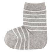 合脚直角弹力 条纹袜