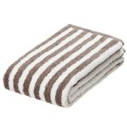 柔软面巾 34×85cm / 浅棕色条纹