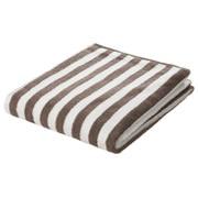 柔软浴巾 70×140cm / 浅棕色条纹