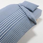 棉被套套装 篮色 格纹 床用 被套 K 床罩 K 枕套 (2张) 50×70cm用