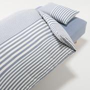 棉被套套装 篮色 条纹 床用 被套 K 床罩 K 枕套 (2张) 50×70cm用