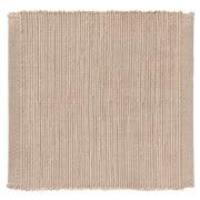 印度棉手工编织杯垫/浅灰色 约长10×宽10cm