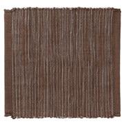 印度棉手工编织杯垫/棕色 约长10×宽10cm