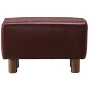 沙发主体 / 皮面搁脚凳 / 茶色 / 长54.5×宽35×高35cm
