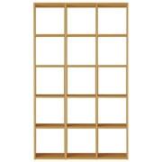 组合式木架套装 / 5层×3列 / 白橡木 / 宽122×深28.5×高200cm