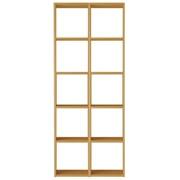 组合式木架套装 / 5层×2列 / 白橡木 / 宽82×深28.5×高200cm