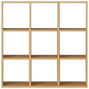 组合式木架套装 / 3层×3列 / 白橡木 / 宽122×深28.5×高121cm