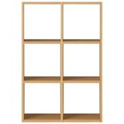 组合式木架套装 / 3层×2列 / 白橡木 / 长82×宽28.5×高121cm