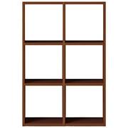 组合式木架套装 / 3层×2列 / 胡桃木 / 宽82×深28.5×高121cm