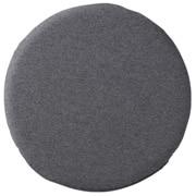 聚氨酯泡沫低反弹坐垫 圆形 混炭灰色 直径34cm